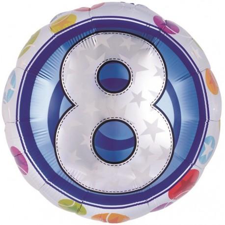 Фольгированный шар - цифра 8. 46 см.
