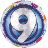 Фольгированный шар - цифра 9. 46 см.