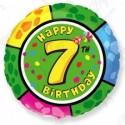 Фольгированный шар С Днем Рождения - цифра 7.