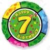 Фольгированный шар С Днем Рождения - цифра 7. 46 см.