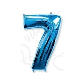 Фольгированная цифра 7, ярко-синяя.
