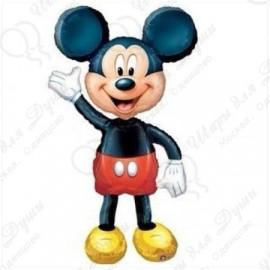 Шар ходячая фигура - Микки Маус. 132 см.