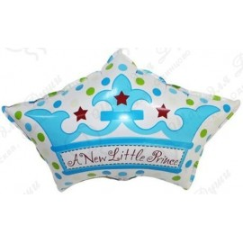 Фигурный шар - Корона для принца, голубой. 64 см.