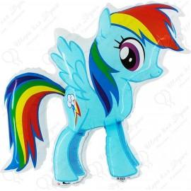 Фигурный шар - милая пони, Радуга. 81 см.