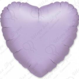 Фольгированное сердце - Лиловое, 46 см.