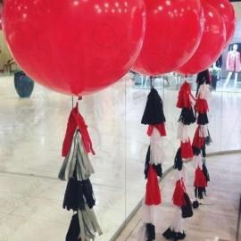 Большой шар - красный. 70 см. с обработкой.