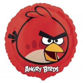 Фольгированный круг - Angry Birds, красный. 46 см.