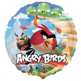 Фольгированный круг - HeSAVER Angry Birds. 46 см.