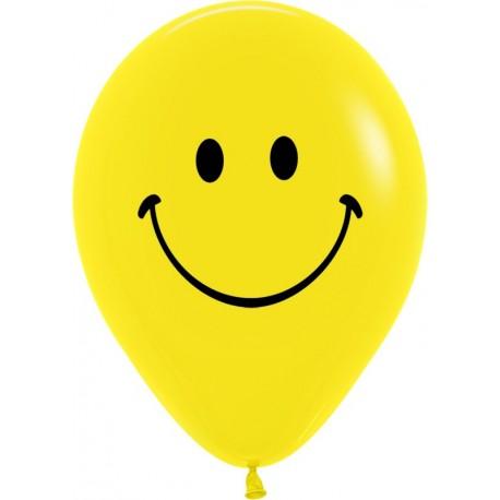 Воздушный шар смайл, пастель, 30 см.