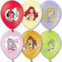 Воздушный шар 38 см принцессы, металлик, ассорти.
