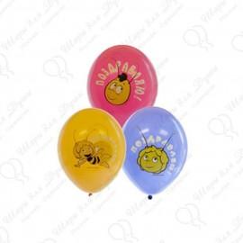 Воздушный шар 38 см пчелка Майя, ассорти, пастель.