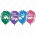 Воздушный шар 38 см тачки, ассорти, кристалл.