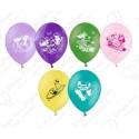 Воздушный шар 25 см Финес и Ферб., ассорти, пастель.