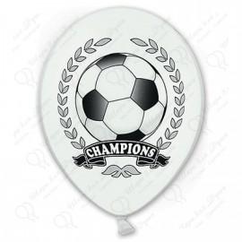 Воздушный шар футбол чемпион, 38 см.