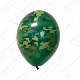 Воздушный шар 38 см военный, кристалл.