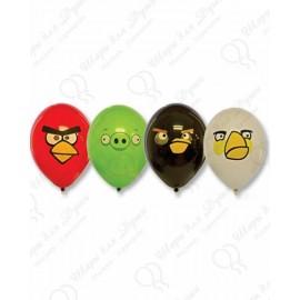 Воздушный шар 38 см Angry Birds, ассорти, пастель.