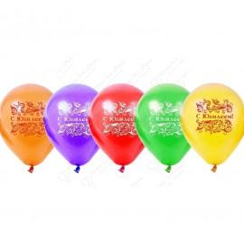 Воздушный шар 38 см, С Юбилеем, пастель, ассорти.