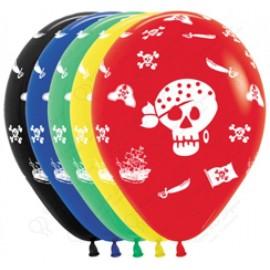 Воздушный шар  30 см пираты, ассорти, пастель.