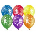 Воздушный шар 30 см С Днем Рождения малыши, ассорти, пастель.