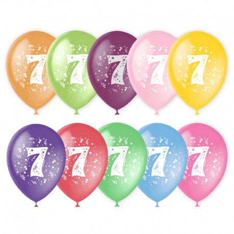 Воздушный шар - цифра семь, 30 см.
