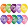 Воздушный шар - цифра три, 30 см.