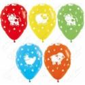 Воздушный шар 30 см Веселая ферма, ассорти, пастель.