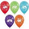 Воздушный шар - Тачки, ассорти, пастель, 30 см.