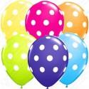 Воздушный шар 30 см Точки, ассорти, пастель.