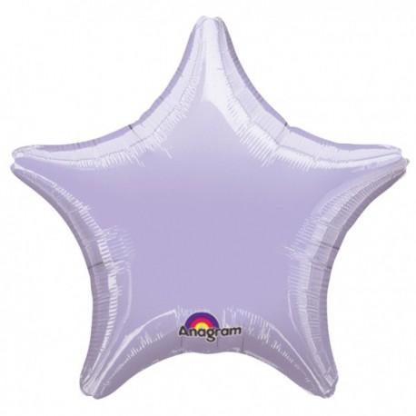 Фольгированный шар - Звезда лиловая, пастель. 46 см.