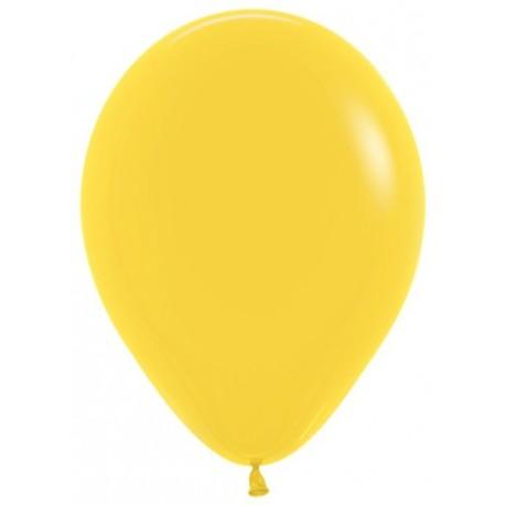 Воздушный шар, желтый, пастель для запуска в небо, 30 см.