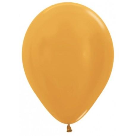 Воздушный шар золото, металлик для запуска в небо, 30 см