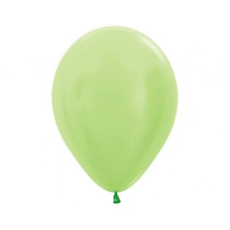 Воздушный шар лайм, перламутр для запуска в небо, 30 см.