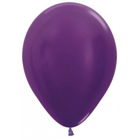 Воздушный шар фиолетовый, металлик для запуска в небо, 30 см.