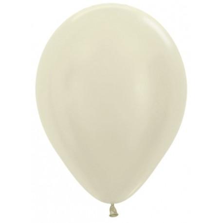 Воздушный шар слоновая кость, перламутр для запуска в небо, 30 см.