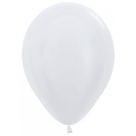 Воздушный шар белый, перламутр для запуска в небо, 30 см.