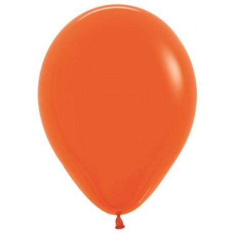 Воздушный шар оранжевый, пастель для запуска в небо, 30 см.