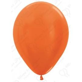 Воздушный шар оранжевый, металлик для запуска в небо.