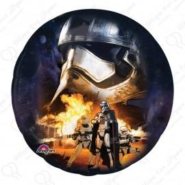 Фольгированный круг -  Звездные войны (маска). 81 см.