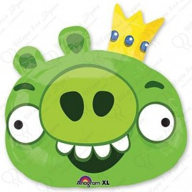 Фольгированный круг - Angry Birds Король Свиней. 46 см.