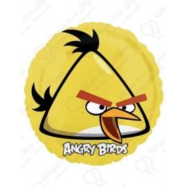 Фольгированный круг - Angry Birds, желтый. 46 см.