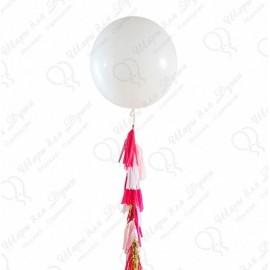 Большой шар - белый 70 см. с обработкой.