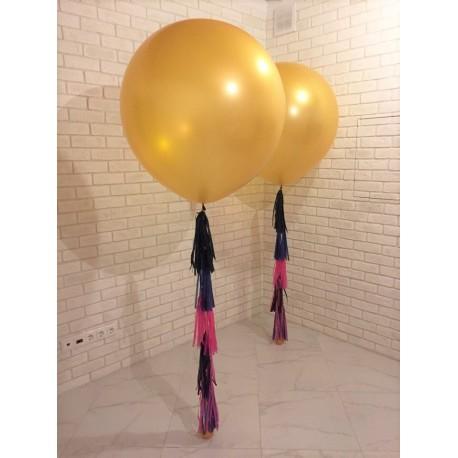 Большой шар - золотой 70 см. с обработкой