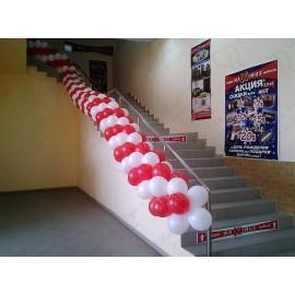 Гирлянда на лестницу.