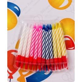 Свечи для торта 2-х цветные 5,5см в пластиковых держателях 24шт.