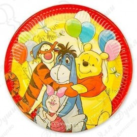 Набор одноразовых тарелок - Винни Пух и друзья.