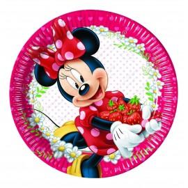Набор одноразовых тарелок - Минни в саду.