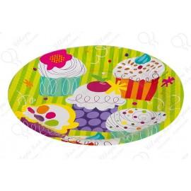 Набор одноразовых тарелок - Пирожные.