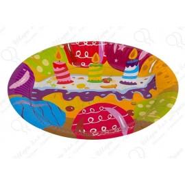 Набор одноразовых тарелок - Тортик.