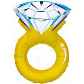 Фигурный шар - Кольцо с бриллиантом.