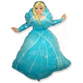 Фигурный шар - Снежная королева.